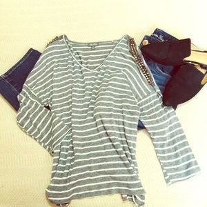 Lilly Rose studded striped shirt